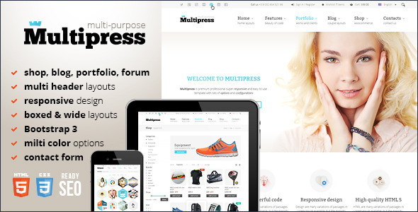 Top 10 corporate html5 website templates to checkout in 2015 multipress responsive html5 template flashek Choice Image