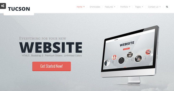 Top 10 corporate html5 website templates to checkout in 2015 tucson responsive html5 template tucson fbccfo Image collections